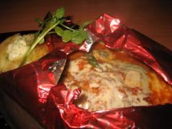 ゴルゴンゾーラチーズの包み焼きハンバーグ