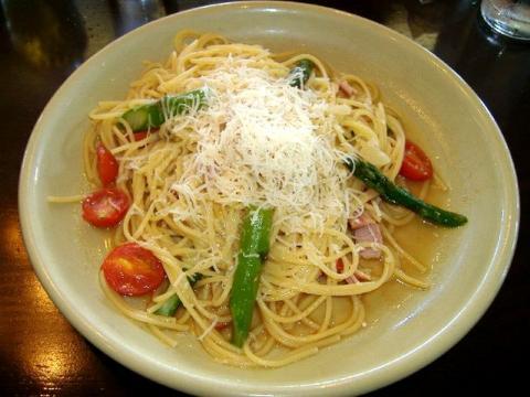 大阪屋・H21・7 ベーコンとアスパラのスパゲティ