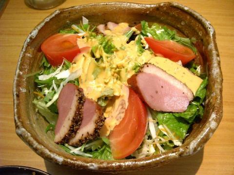 おさかな亭三条店・H22・7 合鴨ロースト入りサラダ