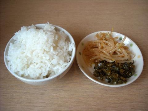 麺や力・H22・8 ライス&漬物