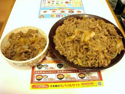 すき家三条東裏館店・H22・11 牛丼(並&キング)