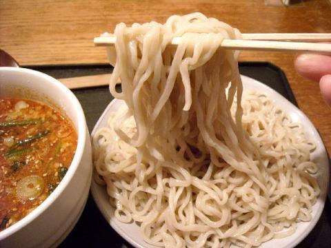 どっぽ本町店・H22・11 坦々つけめん激辛 麺1