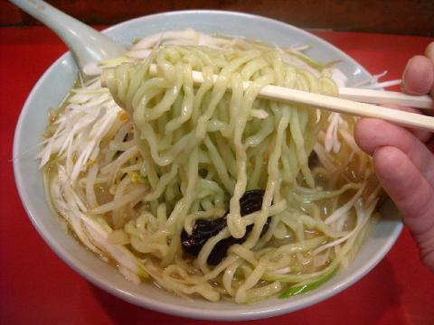 龍昇園・H22・11 氷頭みそラーメン 麺