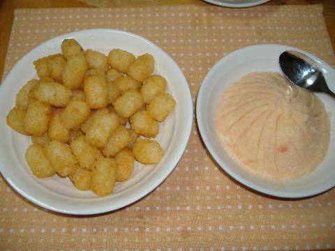 ミニハッシュドポテト&タラモサラダ
