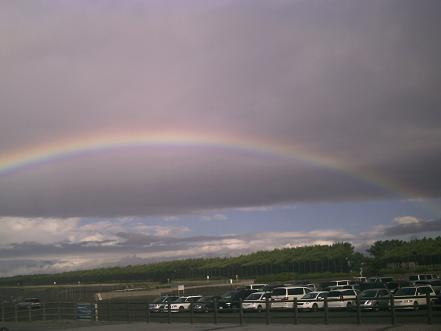 虹が出たよ