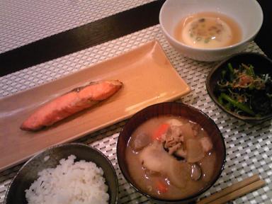 焼き魚定食風