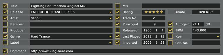 Edit画面(TRAKTOR Pro)