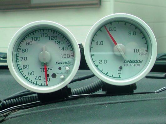 油圧、油温計