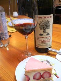 gateau et le vin