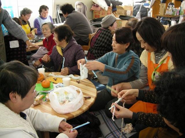 東松島での「ふれあい喫茶」