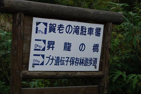 賀老の滝看板