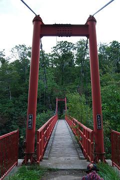 赤いつり橋