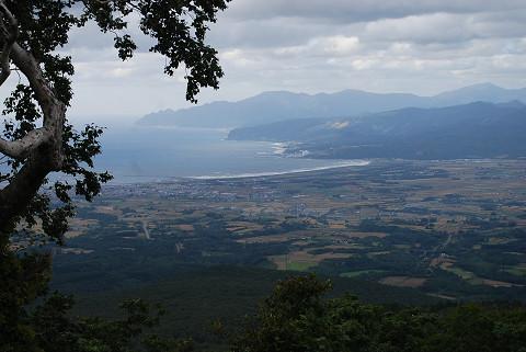 展望台から岩内平野