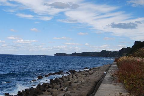 神恵内村の海岸