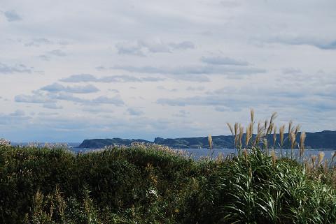 積丹岬を遠望