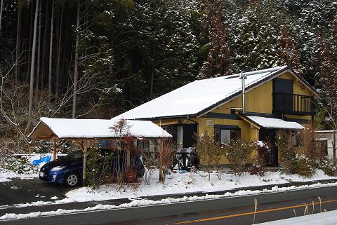 雪の我が家