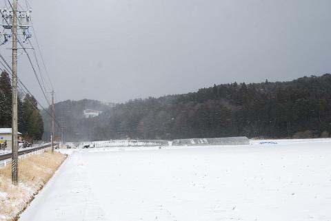 吹雪の景色
