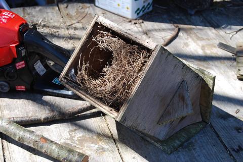 巣箱を裏返すと