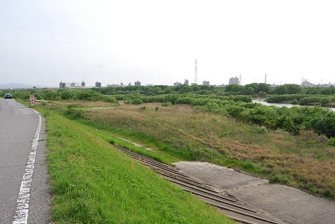 矢作川の広い川原