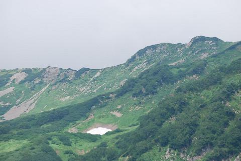小蓮華岳の北