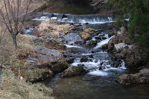 川の風景がきれい