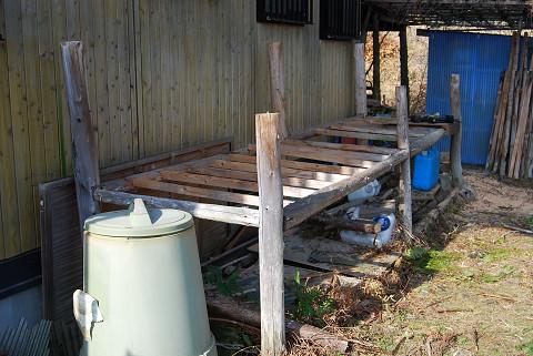 古い薪小屋解体