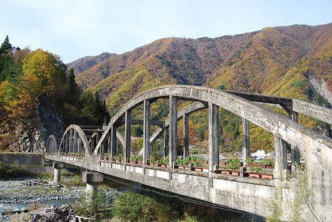大鹿村の古い橋
