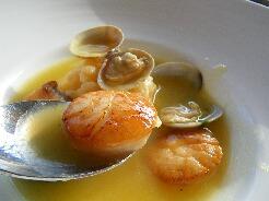 魚介のサフランスープのリゾット