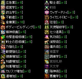 ギルドステータス・スキル(2009.11.16)