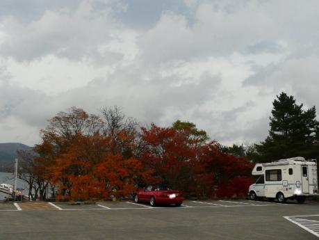 山中湖の紅葉