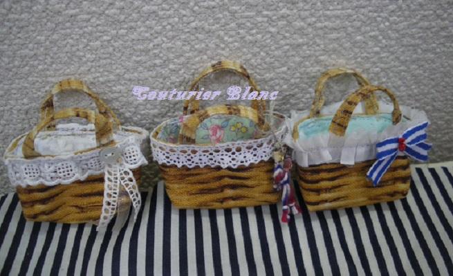 プリント籠バッグ・1