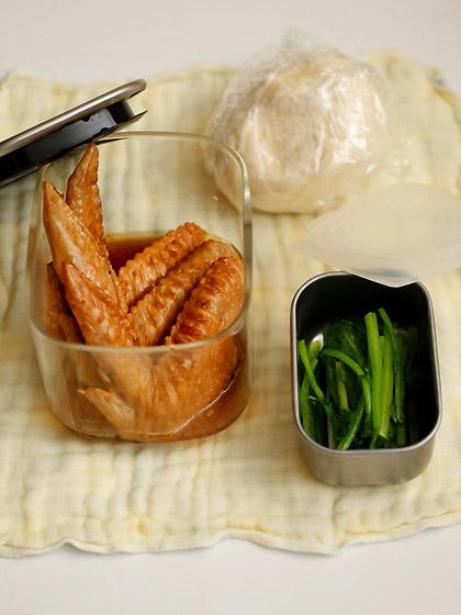 手羽先の醤油煮(五香粉風味):めし弁