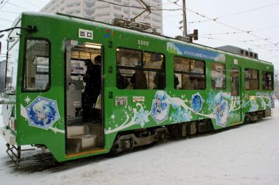 雪ミク電車横2