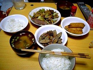 料理 2010年1月1日 晩ご飯