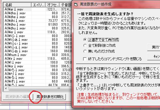 周波数表の一括作成