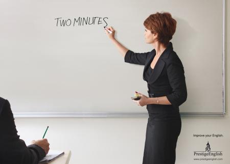 Prestige English: Two minutes