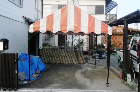 テント 突っ張り完了