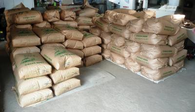 米袋積上げ