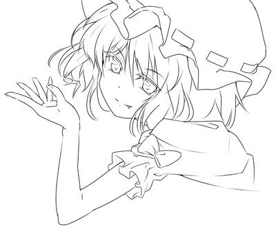 かきかけ(レミリアの左手と肩)