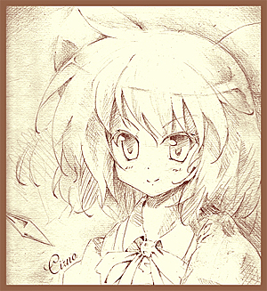 色紙(チルノ)