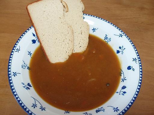 カレーと食パン