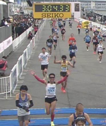 東京マラソン2012フィニッシュ