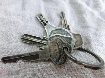 鍵のアンティーク加工