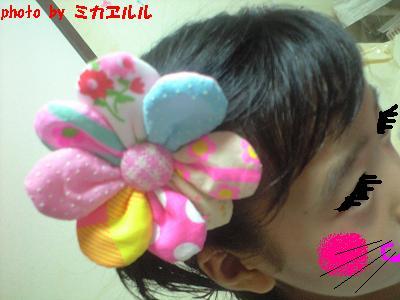 ピンクスさんno.14お花のヘアゴムCA390758