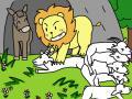 一緒に狩りに行ったライオンとロバ5(変換後)