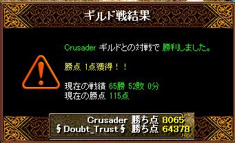 クルセイダー結果0