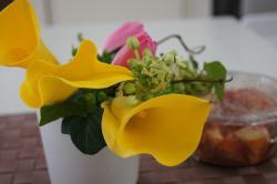 お花とキムチ