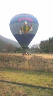 熱気球体験の準備風景