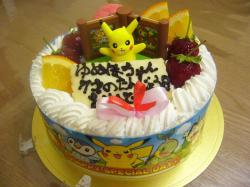 ユメ7歳誕生日ケーキ2