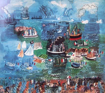 20091212 デュフィ ルアーブルの海軍閲兵式1925 原画 001 13cm